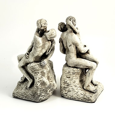 Bey-Berk The Kiss Bookends, Antique White Finish