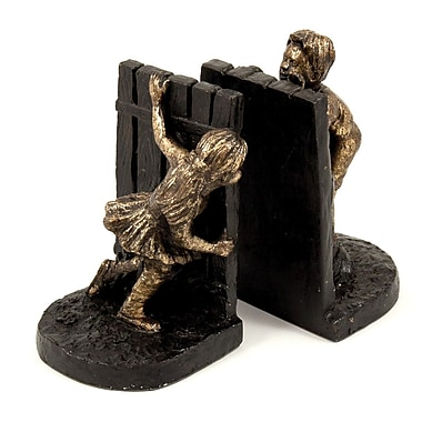 Bey-Berk Peek-A-Boo Bookends, Cold Cast Metal