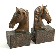 Bey-Berk Horse Head  Bookends, Cast Metal, Patina Finished