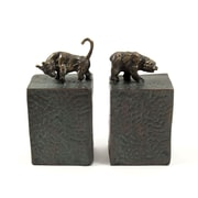 Bey-Berk Bull and  Bear Bookends, Cast Metal, Patina Finished