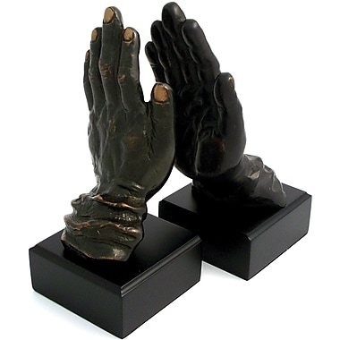 Bey-Berk Hands Bookends, Bronze Finish