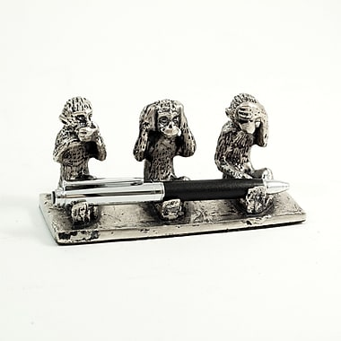Bey-Berk See-Hear-Speak No  Evil Pen Holder