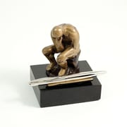 Bey-Berk Marble Base  Thinker Pen Holder