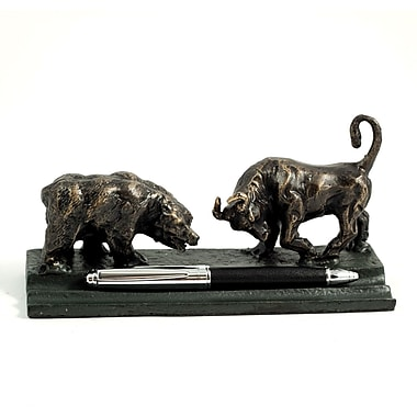 Bey-Berk Bull and Bear Double Pen Holder
