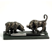 Bey-Berk Bull and  Bear Double Pen Holder