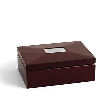 Bey-Berk Box With  Divider, Mahogany