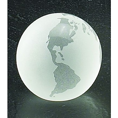 Bey-Berk 3in. Crystal  Globe Paperweight