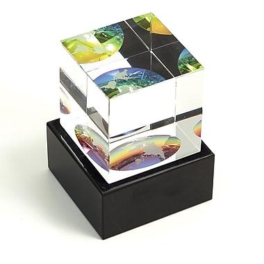 Bey-Berk Crystal Etched  Globe, Cube