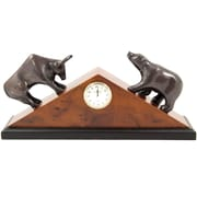 Bey-Berk Brass Stock  Market Clock
