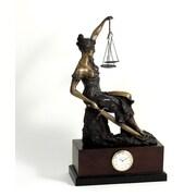 Bey-Berk Bronze Seated  Lady Justice Clock