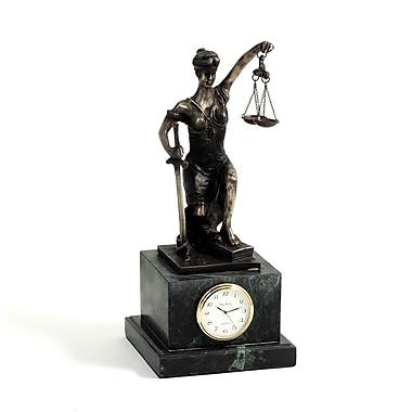 Bey-Berk Bronze Kneeling Lady Justice Clock