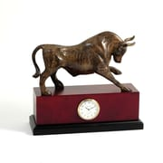 Bey-Berk Brass Bull  Clock