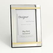 Bey-Berk Silver/Brass Picture  Frame, 5 x 7