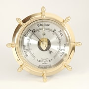 Bey-Berk Brass Ship's  Wheel Barometer