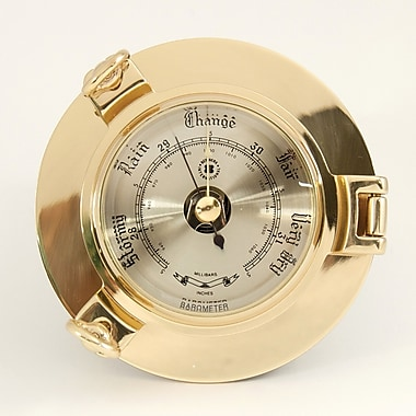 Bey-Berk Brass Porthole Barometer