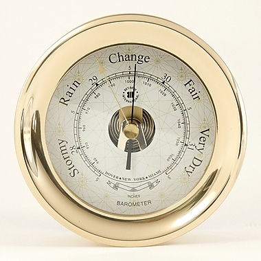 Bey-Berk Brass Barometer  With Compass Rose