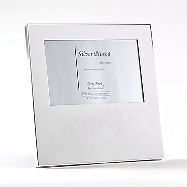Bey-Berk Silver Plated  Picture Frame, 4in. x 6in.