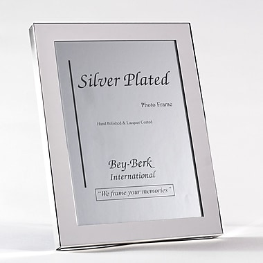 Bey-Berk Silver Plated  Picture Frame, 8in. x 10in.