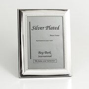 "Bey-Berk SF102-11 Silver Plated Picture Frame, 5"" x 7"""