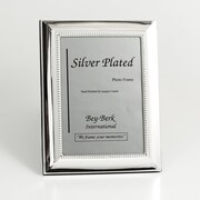 Bey-Berk SF102-12 Silver Plated Picture Frame, 8 x 10