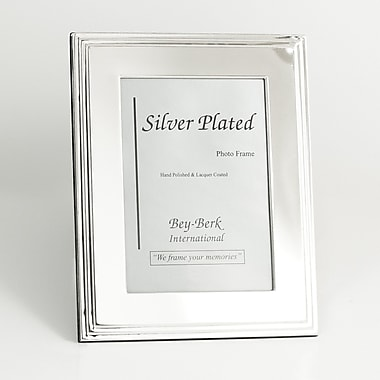 Bey-Berk SF107-09 Silver Plated Picture Frame, 4in. x 6in.