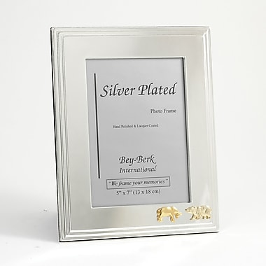 Bey-Berk Silver Plated  Picture Frame, 5in. x 7in., Stock Market