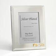 "Bey-Berk Silver Plated  Picture Frame, 5"" x 7"", Stock Market"