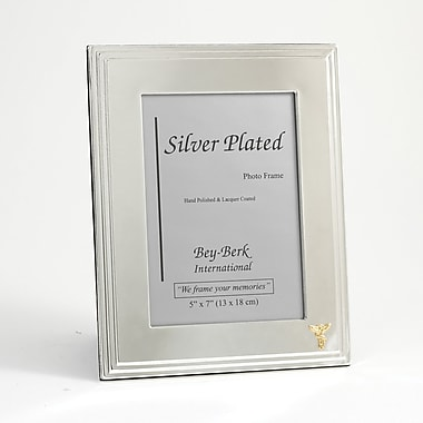 Bey-Berk SF107-11 5in. x 7in. Silver Plated Picture Frames