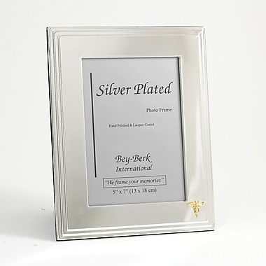 Bey-Berk Silver Plated  Picture Frame, 5in. x 7in., Dental