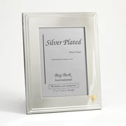 "Bey-Berk Silver Plated  Picture Frame, 5"" x 7"", Dental"