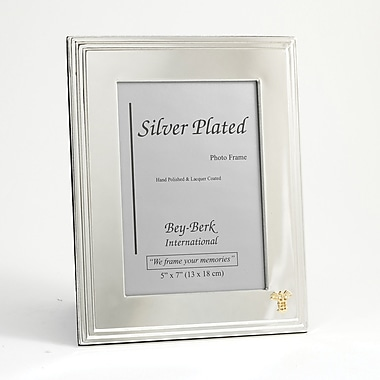 Bey-Berk Silver Plated Picture Frame, 5