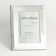 Bey-Berk SF107-12 Silver Plated Picture Frame, 8 x 10