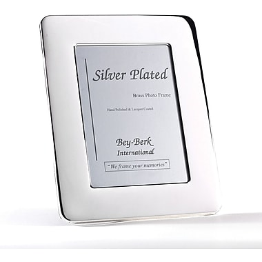 Bey-Berk SF163-12 Silver Plated Picture Frame, 8in. x 10in.