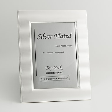 Bey-Berk SF165-11 Silver Plated Picture Frame, 5in. x 7in.