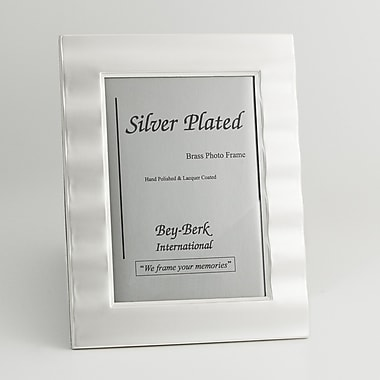 Bey-Berk SF165-12 Silver Plated Picture Frame, 8in. x 10in.