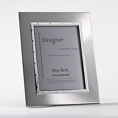 Bey-Berk SF168-11 Silver Plated Picture Frame, 5in. x 7in.