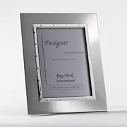 Bey-Berk SF168-11 Silver Plated Picture Frame, 5 x 7
