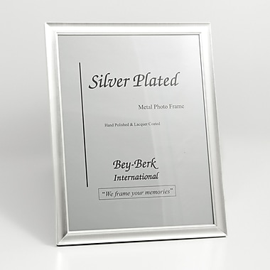 Bey-Berk Silver Plated  Picture Frame, 8 1/2in. x 11in.