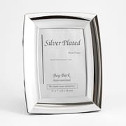 Bey-Berk SF178-11 Silver Plated Picture Frame, 5 x 7