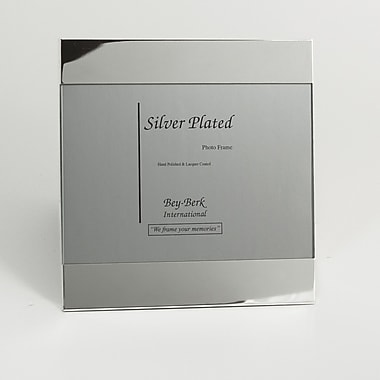 Bey-Berk SF184-11 Silver Plated Picture Frame, 5in. x 7in.