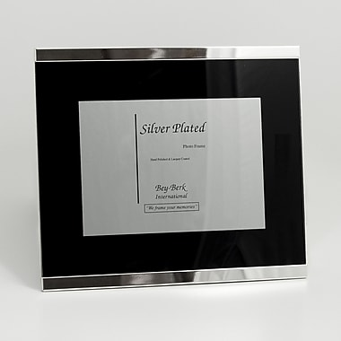 Bey-Berk SF187-09 Silver Plated Picture Frame, 4in. x 6in.