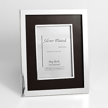 Bey-Berk SF188-11 Silver Plated Picture Frame, 5in. x 7in.