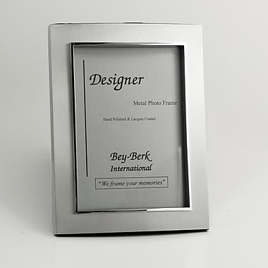 Bey-Berk Satinized Silver  Plated Picture Frame, 4in. x 6in.