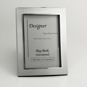 "Bey-Berk Satinized Silver  Plated Picture Frame, 4"" x 6"""