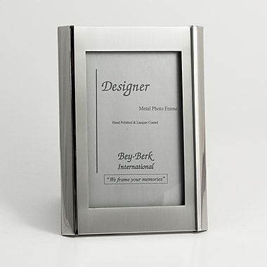 Bey-Berk SF192-09 Silver Plated Picture Frame, 4in. x 6in.