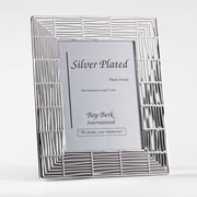 Bey-Berk SF194-11 Silver Plated Picture Frame, 5 x 7