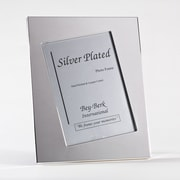Bey-Berk SF195-11 Silver Plated Picture Frame, 5 x 7
