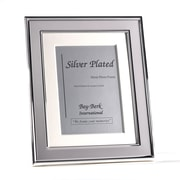 "Bey-Berk Silver Plated  With Matting Picture Frame, 5"" x 7"""