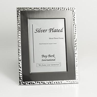 Bey-Berk SF200-12 Silver Tone and Gun Metal Picture Frame, 8