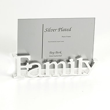 Bey-Berk Silver Plated  Family Frame, 4in. x 6in.